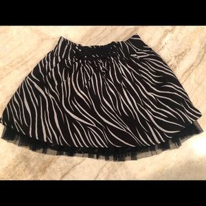 Disney D-Signed Black and White Lace Girls Skirt